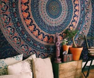 etsy, indian tapestry, and trippy poster image