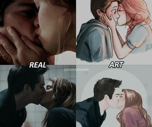 stiles, lydia, and teenwolf image