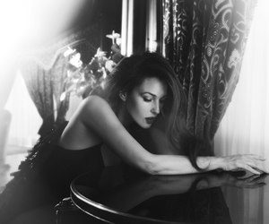 black and white, monica bellucci, and woman image
