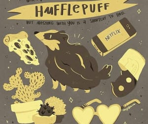 magic, illustration, hufflepuff and hogwarts