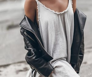 blogger, leather jacket, and look image
