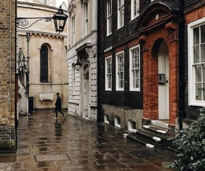 london, rainy day, and street image