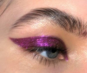 glitter, purple, and aesthetic image