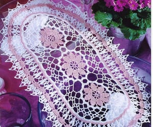 crochet, crocheted, and decoration image