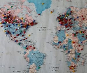 aesthetic, map, and travel image