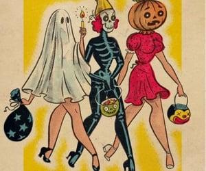 Halloween, costume, and pumpkin image