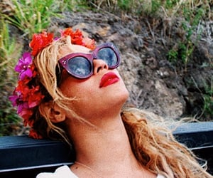 flowers, beyoncé, and glasses image