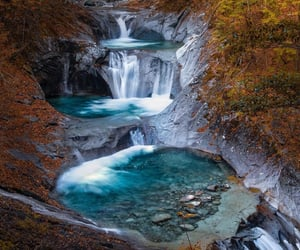 aesthetic, waterfall, and natur image