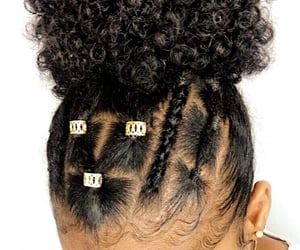 beauty, bun, and curly image