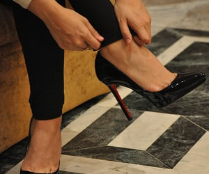 aesthetic, black, and high heels image