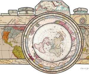 camera, world, and travel image