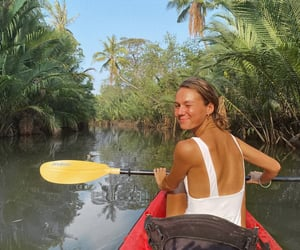 bali, forest, and kayaking image
