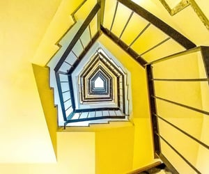 stairs, stairwell, and yellow image