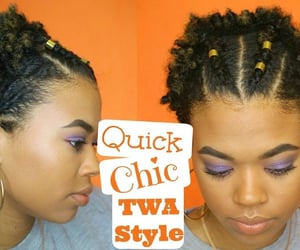 beauty, twist, and braided image