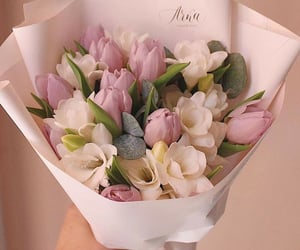 beauty, flowers, and pink flowers image