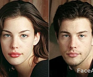 Anne Hathaway and faceapp image