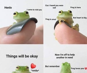 things will be okay, red heart emoji, and henlo ! image