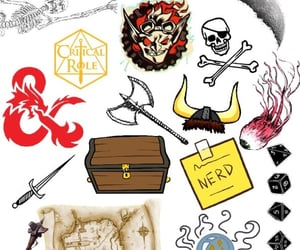 Collage, d20, and d&d image