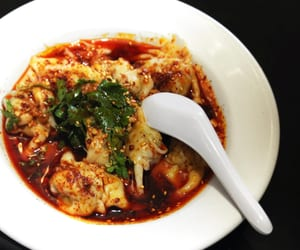 chinese food, sichuan food, and dumpling image