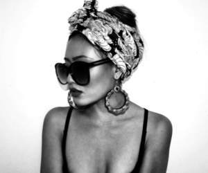 black and white, pretty, and swag image