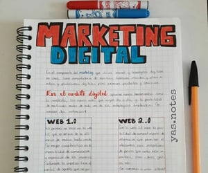 marketing, notes, and papeleria image