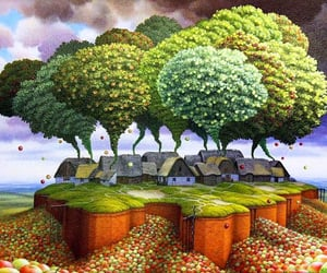 painting, surreal, and surrealism image