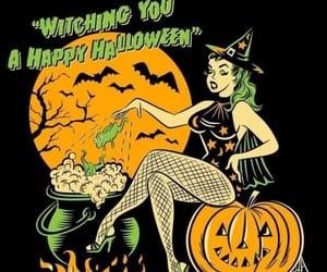 Halloween, pinup, and retro image
