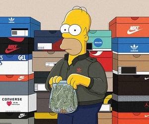 simpsons, adidas, and nike image