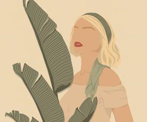 art, beige, and girl image