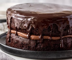 cake, chocolate, and comida image