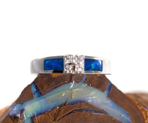 opal ring and australian opal ring image