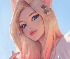 anime, blonde hair, and fox image