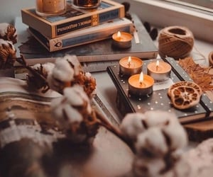 fall, autumn and candles