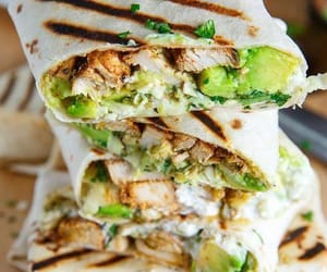 Chicken, tortilla, and healty image