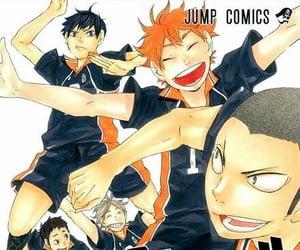 color, manga, and karasuno image