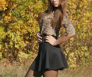 blouse, skirt, and booties image