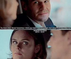 quote, bones, and booth image