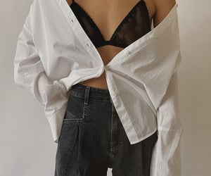 black jeans, blogger, and denim image