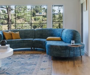 blue, living room, and luxury image