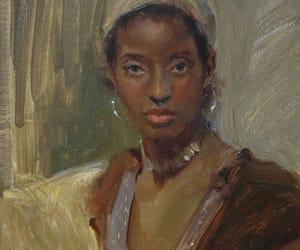 painting, johanna harmon, and dark academia image