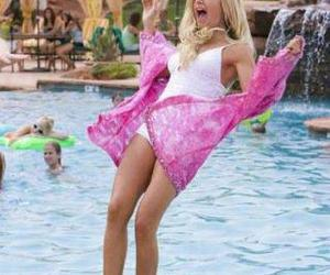high school musical, pool, and ashley tisdale image