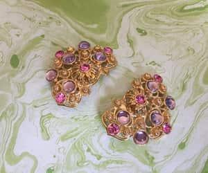avon, vintage earrings, and pink rhinestone image