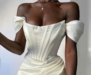 chic, model, and white image