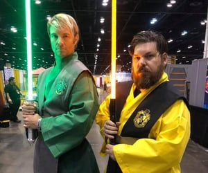 cosplay, lightsaber, and harry potter image
