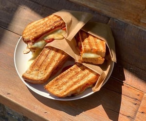 food, delicious, and sandwich image