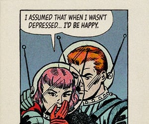 angst, comic, and text image