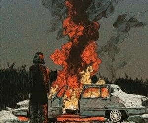 auto, dark, and fire image