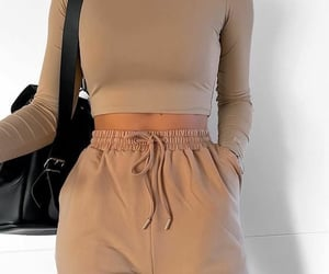 beige, clothes, and clothing image