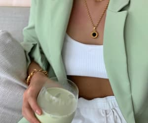 fashion, green, and necklace image