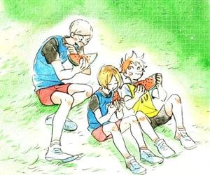 anime, watermelon, and haikyuu!! image